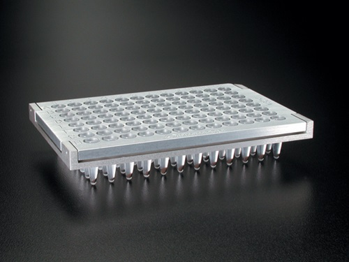Plate Clamp 96 with a 96-well PCR plate.