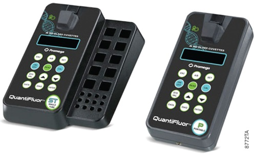 QuantiFluor®-ST and QuantiFluor®-P Handheld Fluorometers.